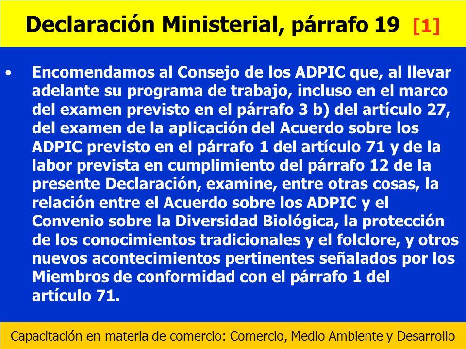 Declaración Ministerial, párrafo 19 [1]